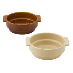 積み重ね ブラウン アイボリー ナチュラル 丸型 円 コンパクト グラタン皿 | zata スタッキングラウンドグラタン  KEYUCA(ケユカ)|keyuca