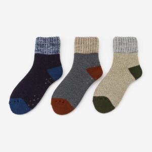 靴下 メンズ | B メンズ 裏起毛 撚り杢トップ 靴下 ルームソックス KEYUCA(ケユカ)|keyuca