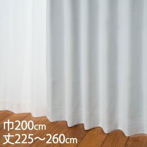 カーテン 遮光カーテン   カーテン ドレープ ホワイト 形状記憶 遮光1級 ウォッシャブル 防炎 遮熱 巾200×丈225〜260cm DP101 KEYUCA(ケユカ) keyuca