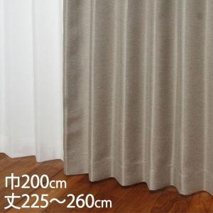 2級遮光 ウォッシャブル 遮熱(断熱効果率58.5%)  サイズ:巾200×丈225〜260cm カ...