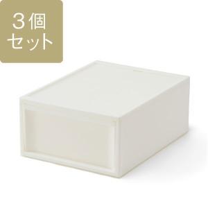 KEYUCA(ケユカ) 収納ボックス 収納ケース | スタックシステムケース ワイドM 3個セット|keyuca