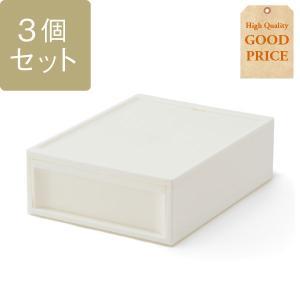 KEYUCA(ケユカ) 収納ボックス 収納ケース | スタックシステムケース ワイドS 3個セット|keyuca