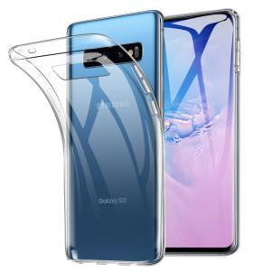 Galaxy S10 ケース TPU 透明 クリア 保護 お洒落 シンプル カバー 衝撃 ソフトケー...