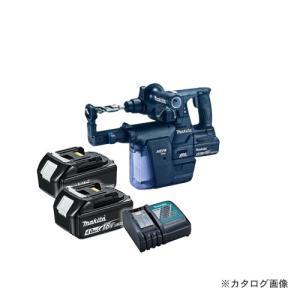 マキタ Makita 18V 6.0Ah 24mm充電式ハンマドリル+集じんシステム付 (バッテリ×2・充電器・ケース付) 黒 HR244DGXVB kg-maido