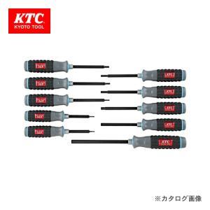 KTC 樹脂柄ヘキサゴン ドライバセット(インチ) (10本組) TD1H10B|kg-maido