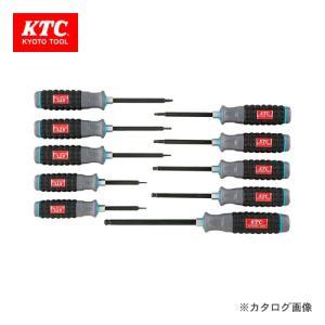 KTC 樹脂柄ボールポイント ヘキサゴンドライバセット(インチ) (10本組) TD1HBP10B|kg-maido
