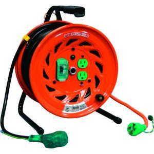 日動 電工ドラム びっくリール 100V アース漏電しゃ断器付 30m RND-EB30S kg-maido
