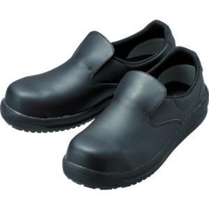 ミドリ安全 ワイド樹脂先芯入り超耐滑軽量作業靴 ハイグリップ 24.0CM NHS600-BK-24...
