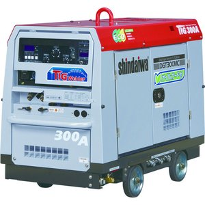 (直送品)新ダイワ エンジンTIG溶接機(オイルガード付) DGT300MC-W kg-maido