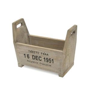 アンティーク調◆木製 ハンドルボックス ホワイト◆ナチュラル雑貨 ガーデニング雑貨|kh-company7