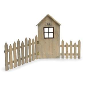 アンティーク調◆木製ハウスフェンス S◆ナチュラル雑貨|kh-company7