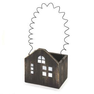 アンティーク調◆ハウスプランター ブラックL◆ナチュラル雑貨 ガーデニング雑貨|kh-company7