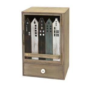 アンティーク調◆木製 ハウスキャビネット/ドロワー/ショート ナチュラル雑貨 kh-company7