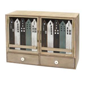 アンティーク調◆木製 ハウスキャビネット/ダブルドロワー ナチュラル雑貨 kh-company7