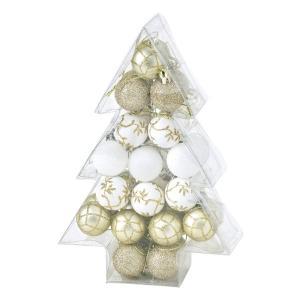 クリスマス◆パーティー オーナメント ボール34個セット ゴールド kh-company7