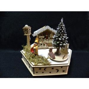 クリスマス ウッドライトオルゴール◆TREE|kh-company7