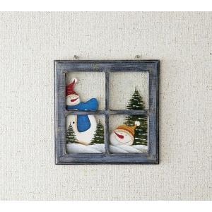 クリスマス Woodウィンドウ・スノーマン|kh-company7
