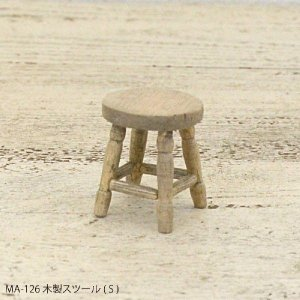 アンティーク風 ミニチュアパーツ 木製スツール|kh-company7