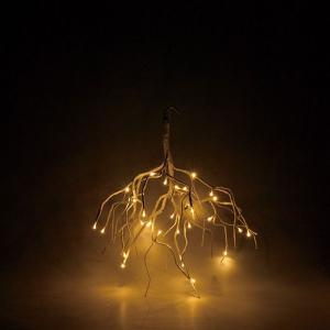 クリスマス◆LEDハンギングブランチ ホワイト|kh-company7