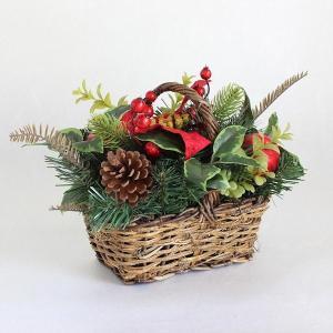 クリスマス◆フェイクグリーン アレンジバスケット|kh-company7