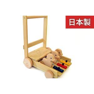 KAWAI 木のおもちゃ 手押し車あひる 6035 日本製 あんよの練習に 出産祝いのギフトに 誕生日プレゼントに クリスマスプレゼントに|kiarl