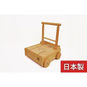 KAWAI 木のおもちゃ 押し車つみき 4044 日本製  知育 出産祝いのギフトに 誕生日プレゼントに クリスマスプレゼントに|kiarl