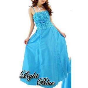 【Lサイズ】刺繍リボン姫ロングドレス