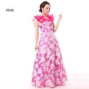 【Lサイズ】フラワープリントロングドレス