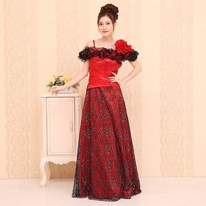 【Lサイズ】フリルデザインロングドレス