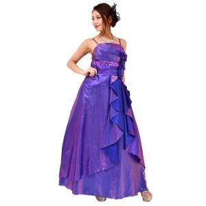 Lサイズ シャンタン刺繍ロングドレス nv26