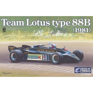 ☆ エブロ 1/20 チーム ロータス タイプ88B 1981 F1 【プラモデル】|kidbox