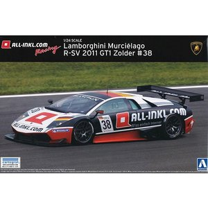 AOSHIMA プラモデル 1/24 ランボルギーニ ムルシエラゴ R-SV 2011 GT1 ソルダー ウィナー #38 M.バッセン/M.ヴィンケルホック|kidbox