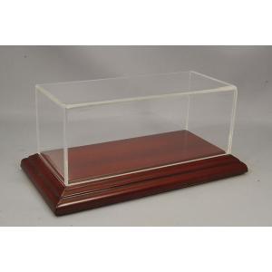 ATLANTIC CASE 1/43用 ディスプレイケース&ベース Aichi ナローエッジ ウッドベース (マホガニー/ブラウン) & アクリルケース kidbox
