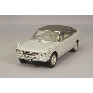 ☆ ENIF 1/43 日産 ローレル 2000GX 2ドア ハードトップ 1970年型 グランドシルバー レザートップ仕様 kidbox
