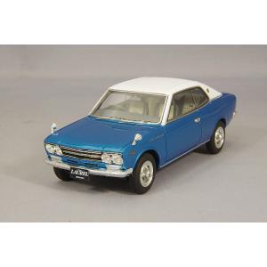 ☆ ENIF 1/43 日産 ローレル 2000GX 2ドア ハードトップ 1970年型 ヒロイックブルー レザートップ仕様 kidbox