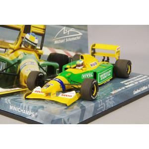 ☆* 【ユーロスポーツ特注】 ミニチャンプス 1/43 ベネトン フォード B192 1992 ベルギーGP ウィナー #19 M.シューマッハ 初勝利|kidbox