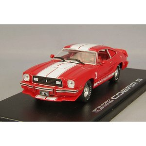 グリーンライト 1/43 1978 フォード マスタングII コブラII レッド/ホワイトストライプ|kidbox