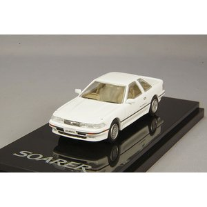 ホビージャパン 1/64 トヨタ ソアラ 2.0GT ツインターボ L 1988 スーパーホワイトI...