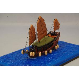 TINY 1/360 香港 帆船 (船室屋根ブラウン)|kidbox