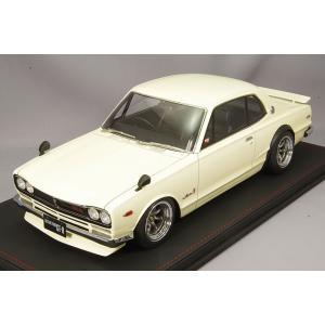 ☆ イグニッションモデル 1/12 日産 スカイライン 2000 GT-R (KPGC10) ホワイト/RSワタナベ15インチ(ポリシュ/ガンメタ)|kidbox
