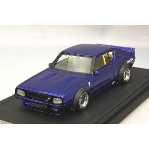 ☆ イグニッションモデル 1/43 LB-WORKS ケンメリ 2ドア ブルーメタリック kidbox