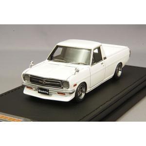 ☆ イグニッションモデル 1/43 日産 サニー トラック ロング B121 ホワイト/ハヤシストリート14インチ kidbox