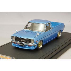 ☆ イグニッションモデル 1/43 日産 サニー トラック ロング B121 メタリックブルー/SSR Mk.IIIタイプ14インチ(ポリッシュ/ゴールド) kidbox