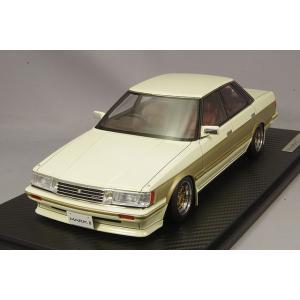 ☆ イグニッションモデル 1/18 トヨタ マークII グランデ (GX71) ホワイト/ゴールド/SSR MkIIIタイプ14インチ(ポリッシュ/ゴールド)|kidbox