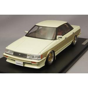 ☆ イグニッションモデル 1/18 トヨタ マークII グランデ (GX71) ホワイト/ゴールド/BBS RSタイプ17インチ(ポリッシュ/ゴールド)|kidbox