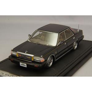 ☆ イグニッションモデル 1/43 日産 セドリック Y30 4ドア HT ブロアム VIP ブラック/BBS RSタイプ16インチ(ポリッシュ/シルバー)|kidbox