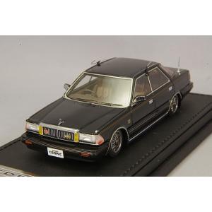 ☆ イグニッションモデル 1/43 日産 セドリック Y30 4ドア HT ブロアム VIP ブラック/14インチワイヤーメッシュ(ポリッシュ/シルバー)|kidbox