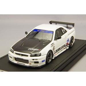 ☆ イグニッションモデル 1/43 トップシークレット GT-R (BNR34) ホワイト/TE37タイプ18インチ(ポリッシュ/ブラック)|kidbox