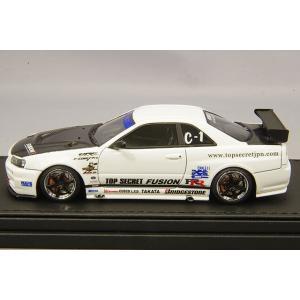 ☆ イグニッションモデル 1/43 トップシークレット GT-R (BNR34) ホワイト/TE37タイプ18インチ(ポリッシュ/ブラック)|kidbox|02