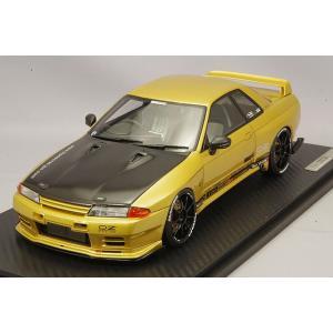 ☆ イグニッションモデル 1/18 トップシークレット GT-R (VR32) ゴールド/OZタイプ18インチ(ブラック)|kidbox